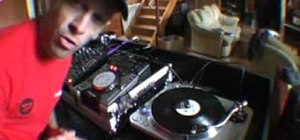 Cut and chop on a DJ mixer