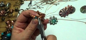 Make wire-wrapped flower brooches and jewelry