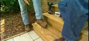 Make door mat boot scrapers on your exterior stairs