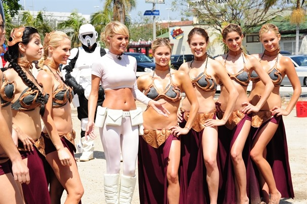 Wake Up, You're Not Dreaming. Hot, Soapy Star Wars Slave Car Wash