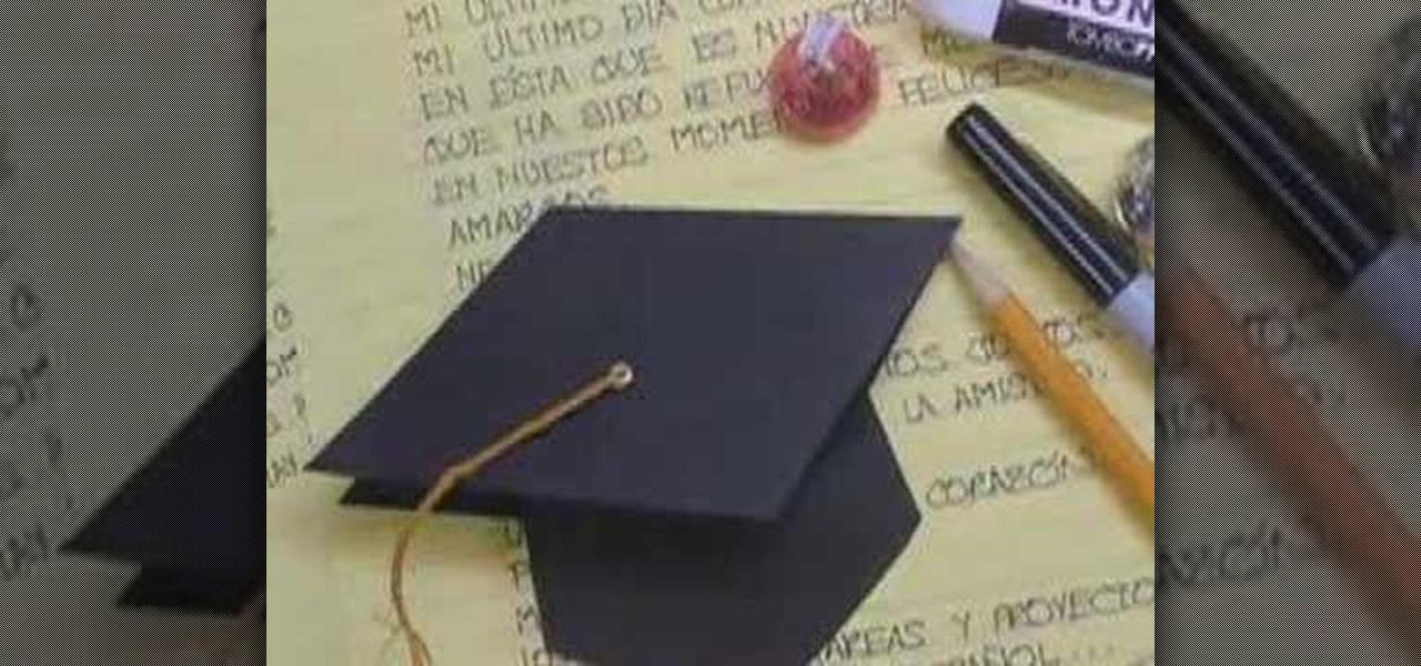 How to Make a pop-up graduation hat card « Papercraft :: WonderHowTo