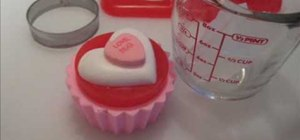 Make melt and pour Valentine's Day cupcake soaps
