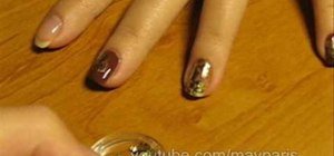 Use gold foil on your nails