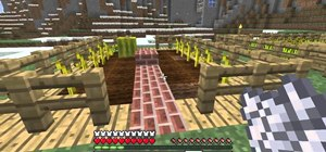 Build a melon and pumpkin farm in Minecraft 1.8