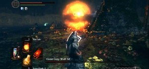 Beat the Great Grey Wolf Sif boss fight in Dark Souls