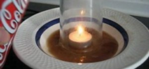 Get liquid from a bowl into a glass with just a candle