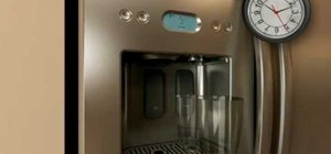 Purge air from your fridge's water dispenser