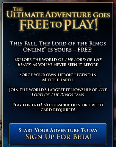 Lord of the Rings Online is now free
