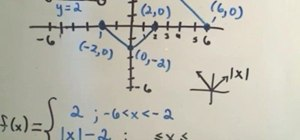 Find the formula for a piecewise function from a graph
