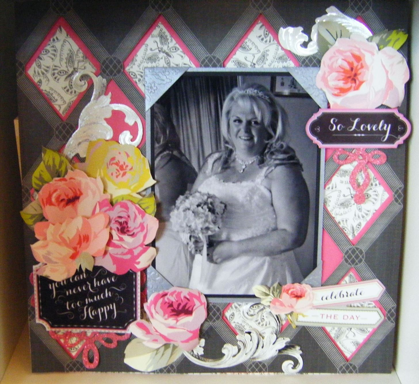 Make a Floral Wedding Grace Scrapbook Page