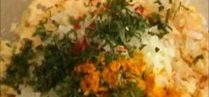 Make Burmese yellow split pea fritters
