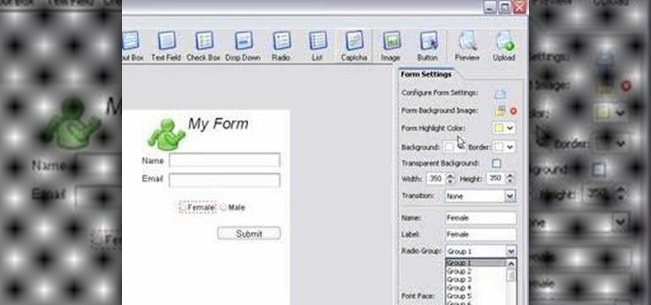Coffee Cup Website Maker : How to Use CoffeeCup Web Form Builder 7.5 Software Tips