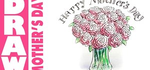 Draw a beautiful Mother's Day bouquet for your Mom