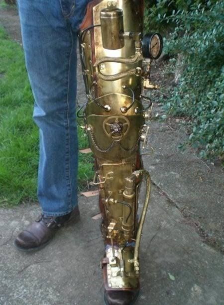 Fully-Articulated Steampunk Leg