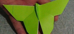 Fold an easy paper butterfly with origami