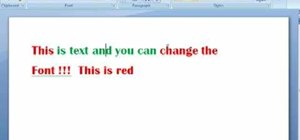 Change the font color in Word 2007