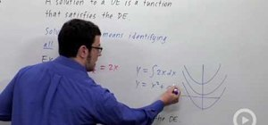 Use differential equations to solve for velocity