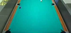 "Do the ""Down the Rail"" drill while playing pool"
