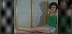 Do relaxing foot stretching exercises