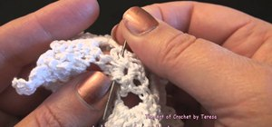 Tie off your crochet project with a short tail