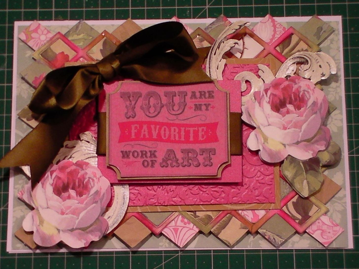 How to Make a Lattice Background Floral Art Card