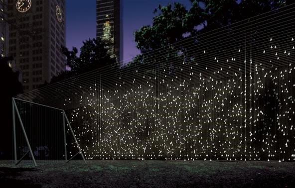 Madison Square Park's Eerie, Electrifying LED Ghost Land