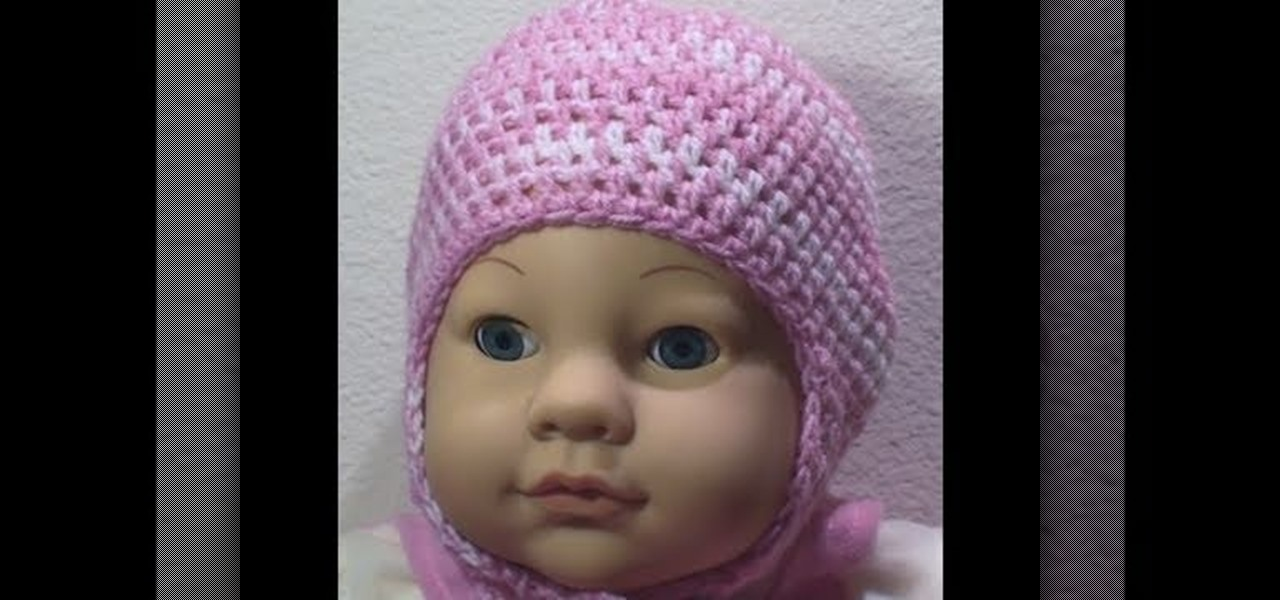 How to Crochet a two tone baby cap with ear flaps « Knitting   Crochet     WonderHowTo d01dac293df