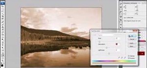 Convert an image to sepia tones in Photoshop