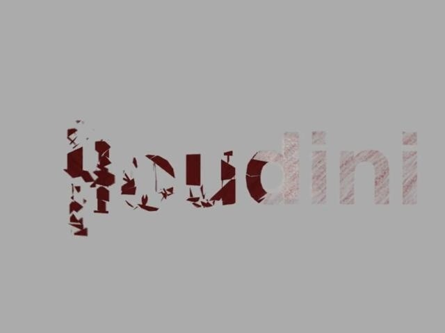 Create flyingletter title text in Houdini 10 - Part 1 of 2