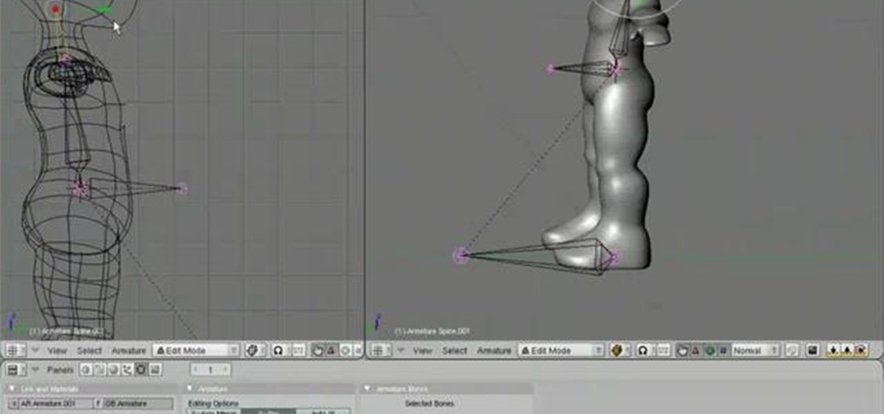 Advanced Character Modeling Blender : How to create a rig when animating d model in blender