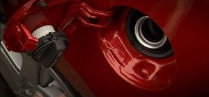 Open the gas door & cap in a 2010 Prius