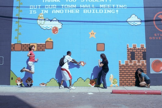 Interactive Super Mario Street Art