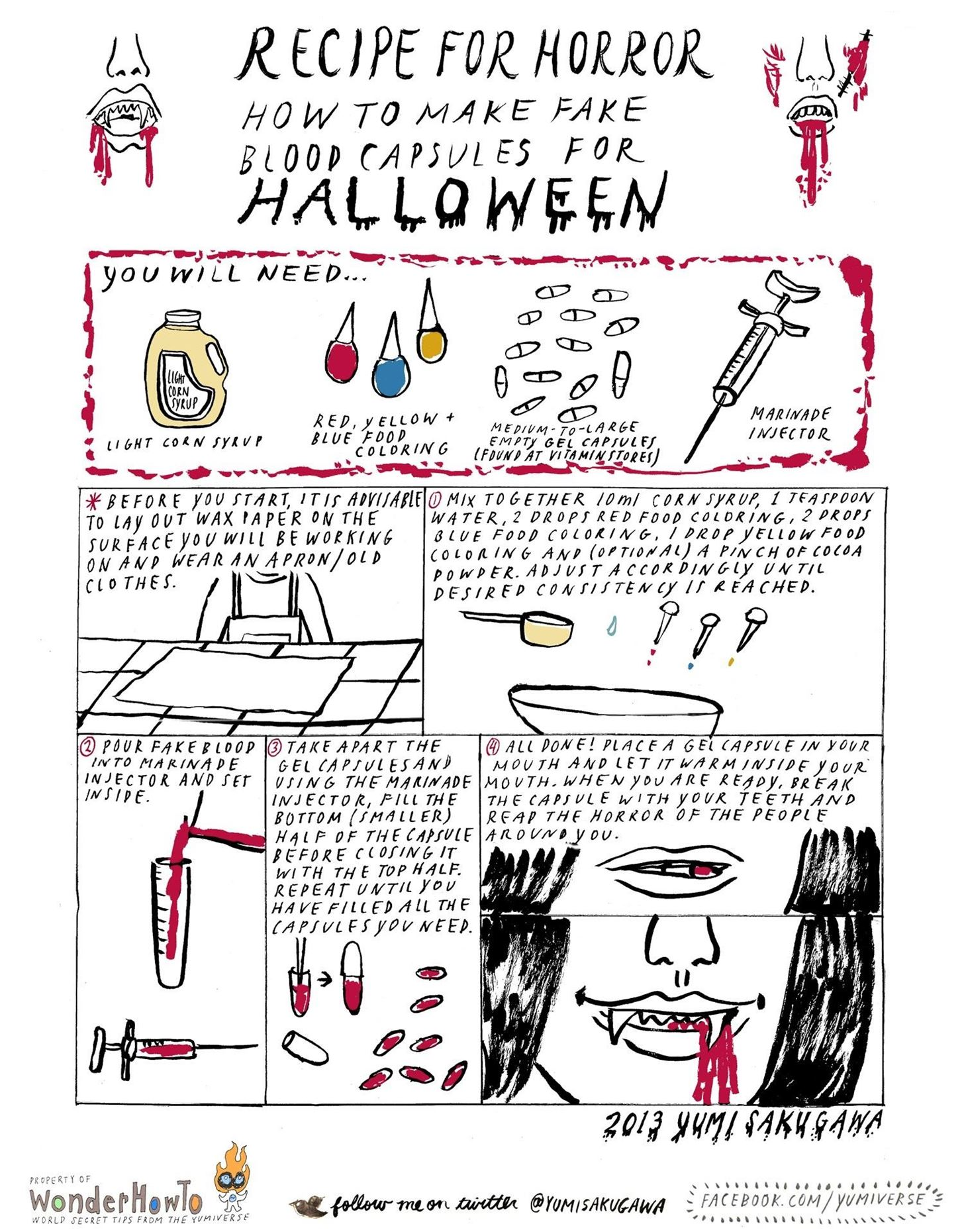 Recipe for Horror: How to Make Fake Blood Capsules for Halloween