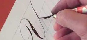 Write the letter Y in calligraphy copperplate