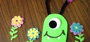 Make a one-eyed friendly foam monster with the kids