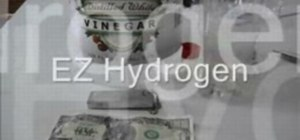Make hydrogen with vinegar and magnesium