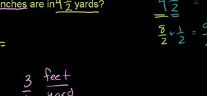 Convert yards to inches with simple arithmetic