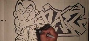 Do a Naz graffiti gangsta and letters with Wizard