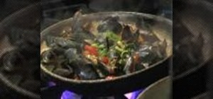 Prepare pan-roasted mussels diablo with Irish beer