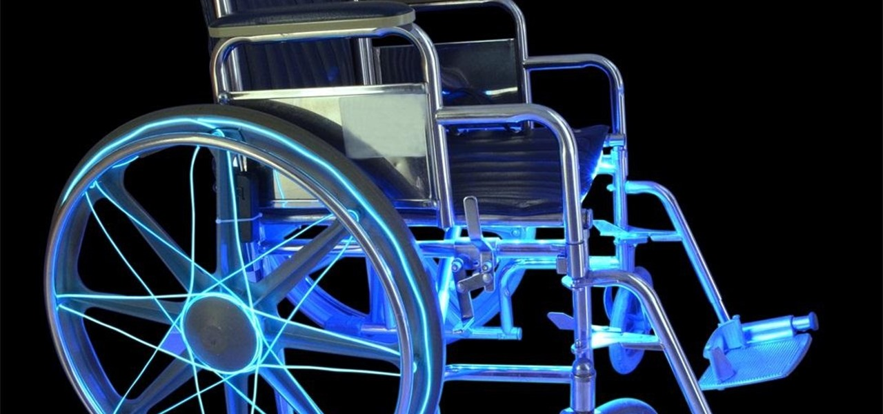 How to Illuminate a Wheelchair for Safety Using EL Wire & LED Strip ...