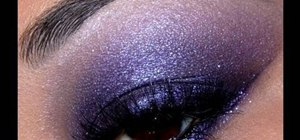 Achieve a smokey eye look with purple eyeshadow