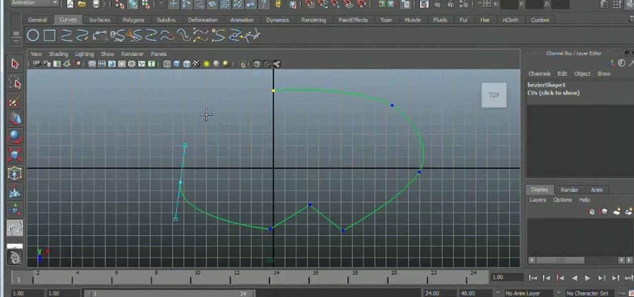 How to Create and edit Bézier curves in Autodesk Maya 2011