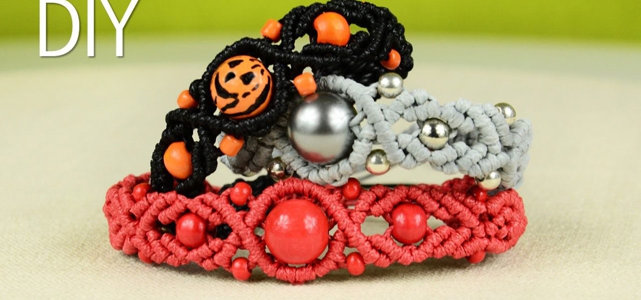 Wavy Pumpkin Bracelet with Beads