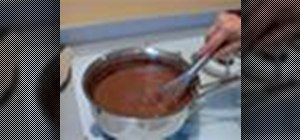 Make chocolate pudding at home
