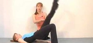 Do the shoulder bridge pilates exercise