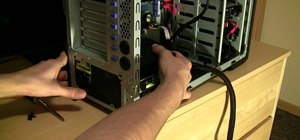 Install a bottom mounted power supply in a PC tower case