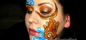 Apply a koi fish arty makeup look