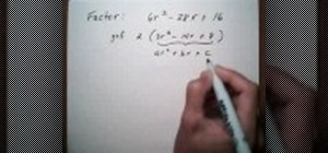 Factor a trinomial by GCF then grouping method