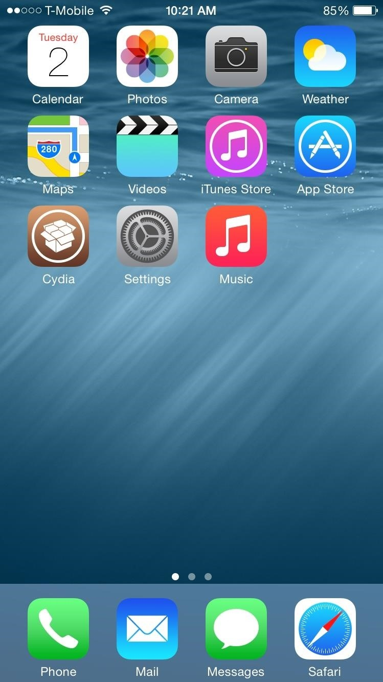 Ios 8 Homescreen