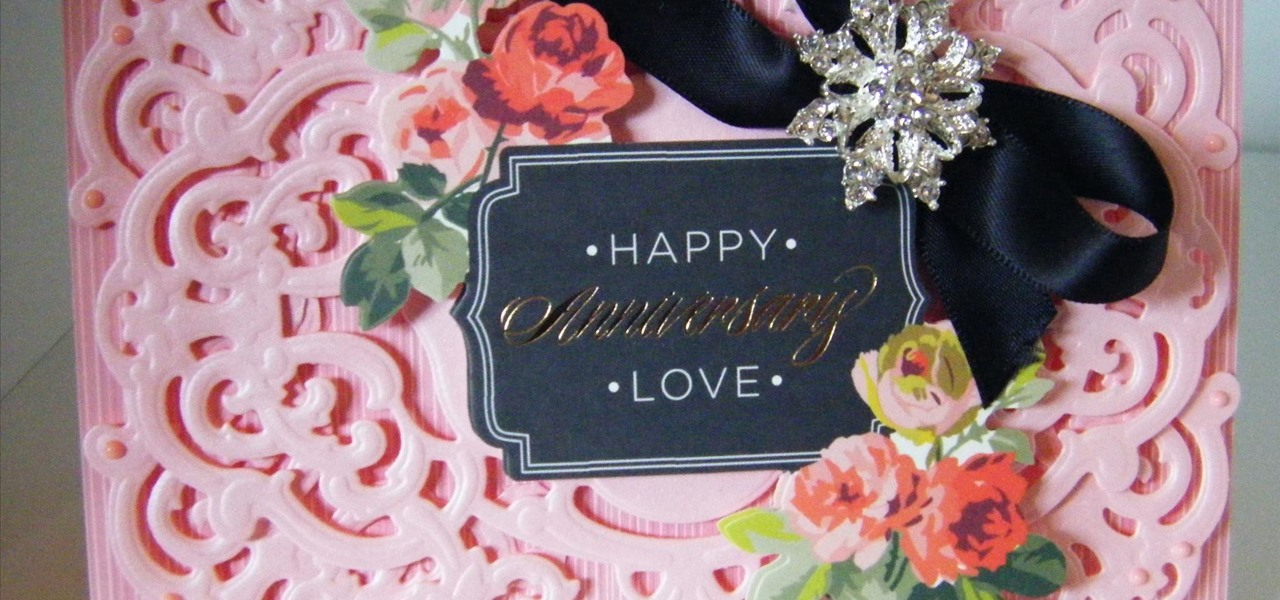 Make Pink Vintage Ornate Frame Topper Card